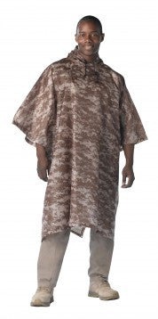 G.I. Type Military Rip-Stop Poncho - Delta Survivalist