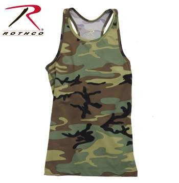 Womens Camo Workout Performance Tank Top - Delta Survivalist