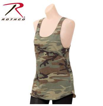 Womens Camo Racerback Tank Top - Delta Survivalist