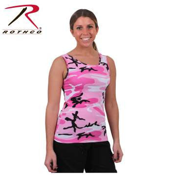 Womens Camo Stretch Tank Top