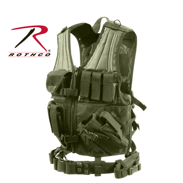 Cross Draw MOLLE Tactical Vest - Delta Survivalist