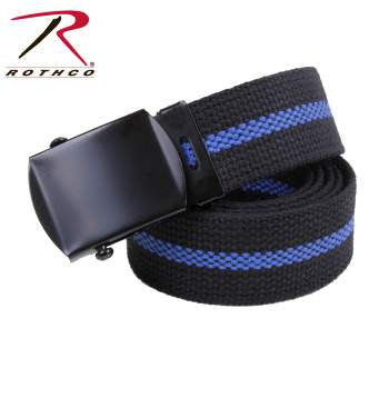 "44"" Thin Blue Line Web Belt - Delta Survivalist"