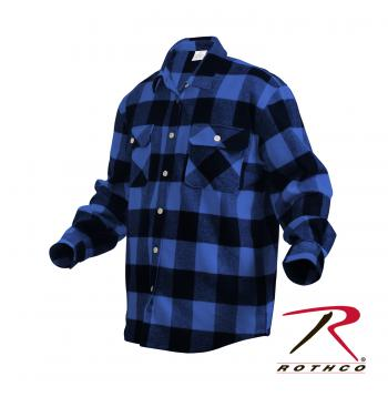 Extra Heavyweight Buffalo Plaid Flannel Shirts - Delta Survivalist
