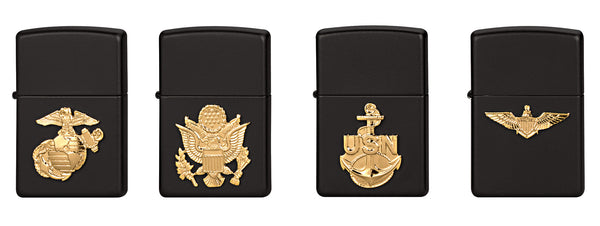 Zippo Military Crest Lighters - Delta Survivalist