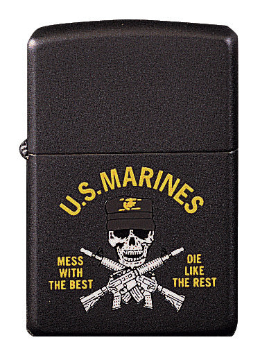 "Marines ''Mess With The Best'"" Lighter"