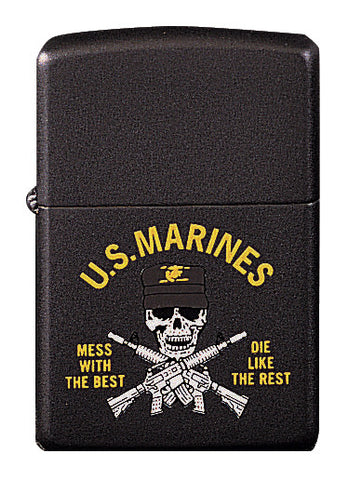 "Marines ''Mess With The Best'"" Lighter - Delta Survivalist"