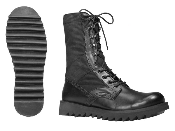 Black Ripple Sole Jungle Boots - Delta Survivalist