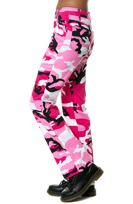 Rothco 3348 Women/'s Pink Camouflage Stretch Flare Pants