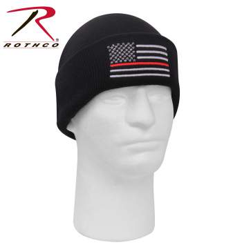 Deluxe Thin Red Line Watch Cap - Delta Survivalist