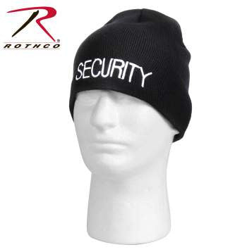 Embroidered Security Acrylic Skull Cap