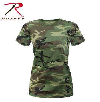 Women's Long Length Camo T-Shirt
