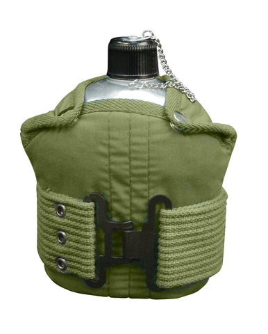 Aluminum Canteen And Pistol Belt Kit - Delta Survivalist