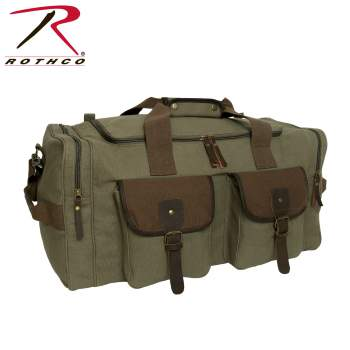 Long Journey Canvas Travel Bag - Olive Drab