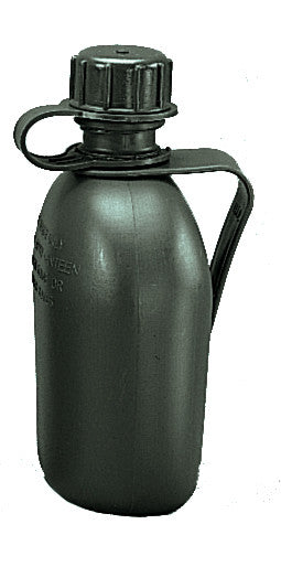G.I 3 pc. Olive drab 1 qt. Canteen with clip