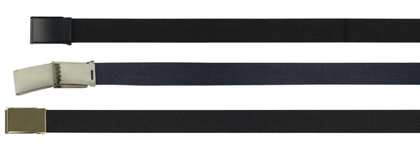 Military Web Belts - with Flip Buckle