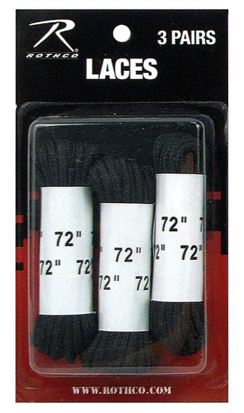 "72"" Boot Laces - 3 Pack"
