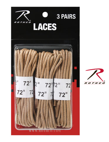 "72"" Boot Laces - 3 Pack - Delta Survivalist"