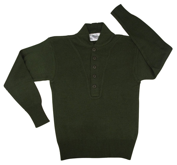 G.I. Style 5-Button Acrylic Sweater - Delta Survivalist