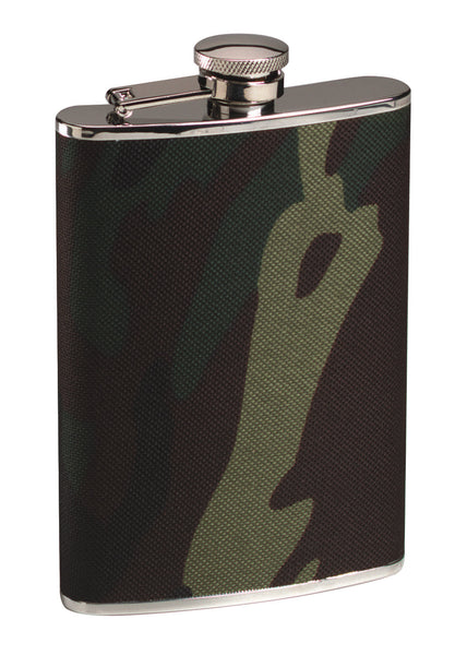 Stainless Steel Camo Flask