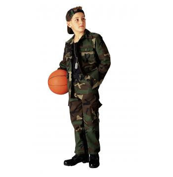Kids Woodland Camo BDU Shirt - Delta Survivalist