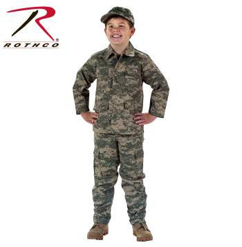 Kid's Digital Camo BDU Shirt - Delta Survivalist