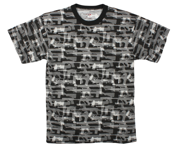 Vintage Black 'Faded Guns' T-Shirt