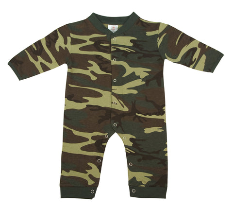 Infant Camo Long Sleeve and Leg One-piece Bodysuit - Delta Survivalist