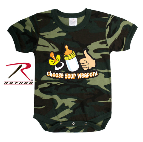 Choose Your Weapon Infant One-piece - Delta Survivalist
