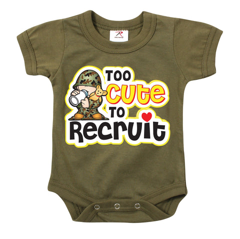 Infant One-Piece / Too Cute To Recruit - Delta Survivalist