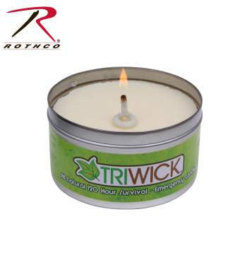 Triwick 120 Hour Survival Candle and Camping Stove - Delta Survivalist