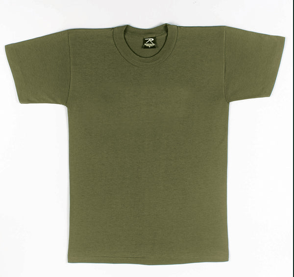 Solid Color Poly/Cotton Military T-Shirt