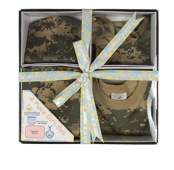 Infant 4 Piece Camo Boxed Gift Set - Delta Survivalist