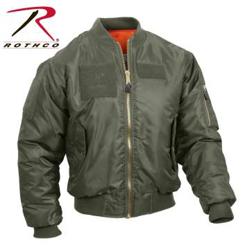 MA-1 Flight Jacket with Patches - Delta Survivalist