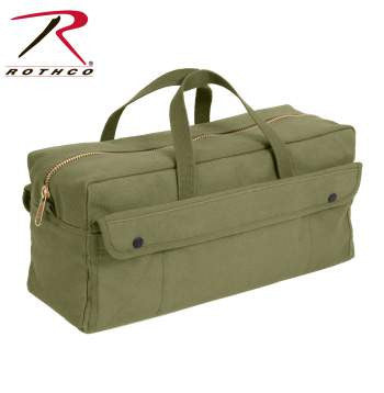 Canvas Jumbo Tool Bag With Brass Zipper