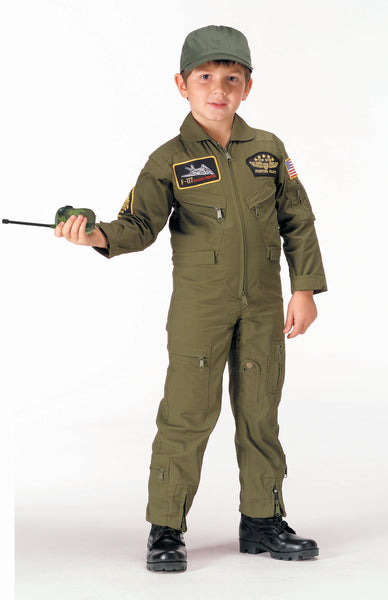 Kid's Flight Coverall With Patches - Delta Survivalist