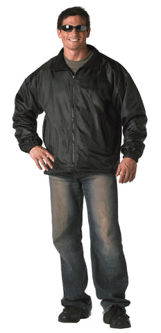 Black Reversible Fleece-Lined Nylon Jacket - Delta Survivalist