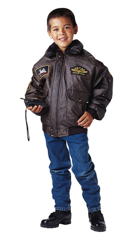 Kids WWII Aviator Flight Jacket - Delta Survivalist