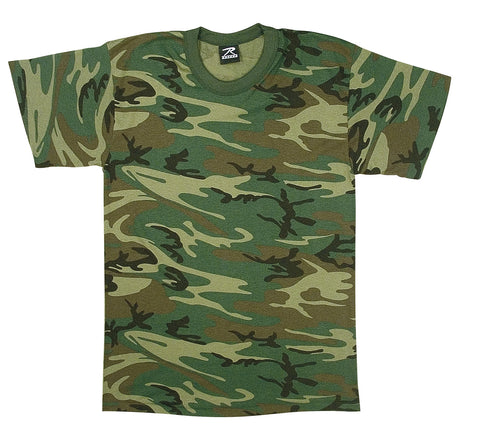 Children's Woodland Camo Heavyweight T-Shirt - Delta Survivalist