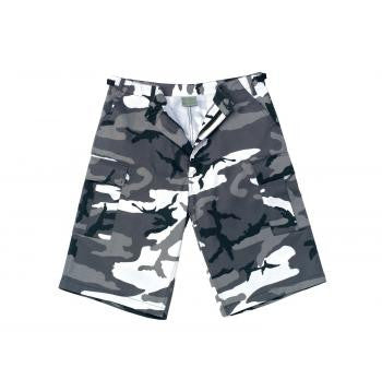 Long Length Camo BDU Shorts