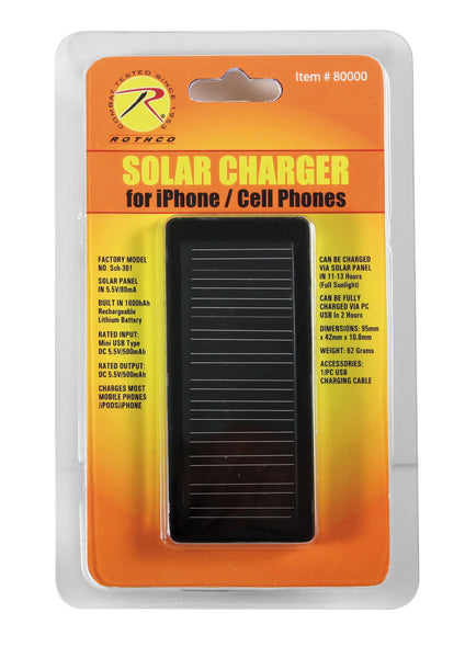Cell Phone/iPhone Solar Charger - Delta Survivalist