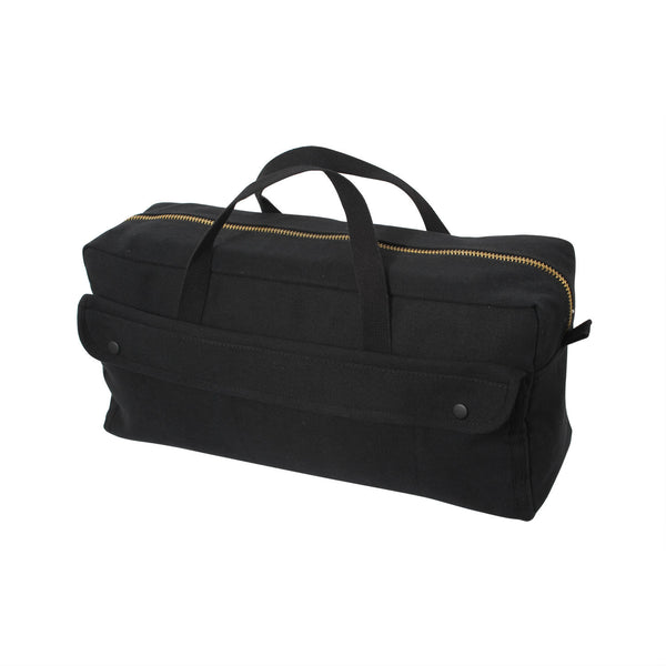 Canvas Jumbo Tool Bag With Brass Zipper - Delta Survivalist