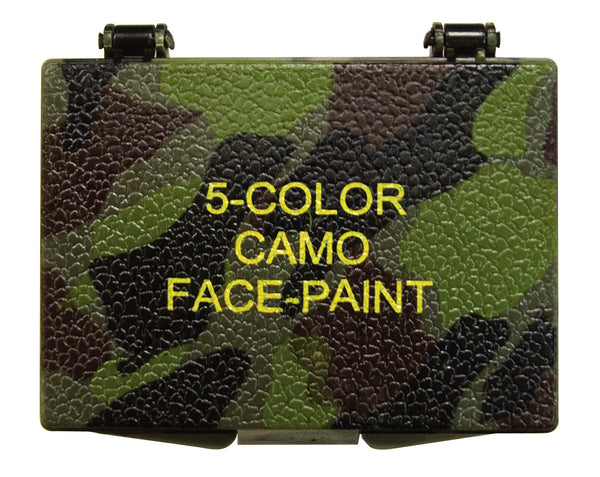 Five-color Bark Camouflage Face Paint Compact - Delta Survivalist