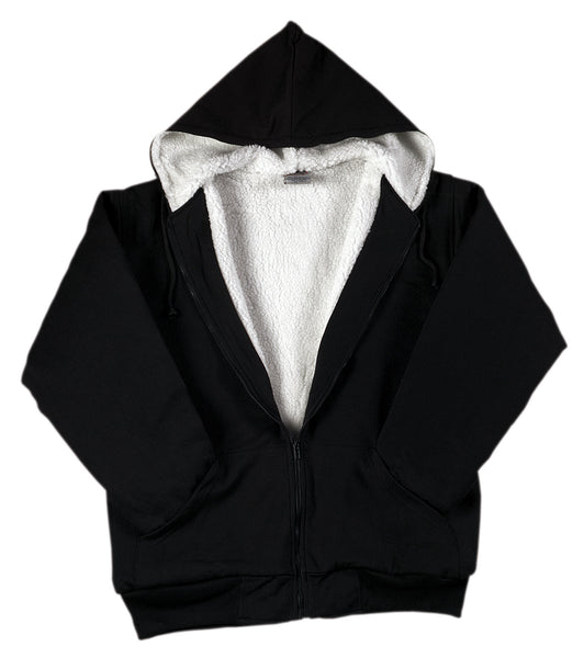 Heavyweight Sherpa Lined Zippered Sweatshirt - Delta Survivalist