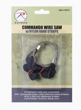 Commando Wire Saw with Nylon Hand Straps - Delta Survivalist