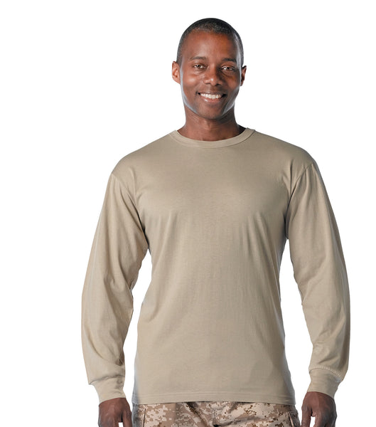 Long Sleeve Solid Cotton T-Shirt