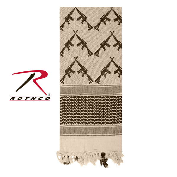 Crossed Rifles Shemagh Tactical Scarf - Delta Survivalist
