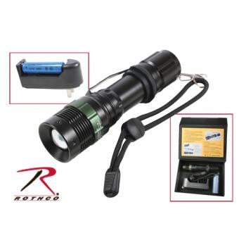3 Watt LED Flashlight With Charger