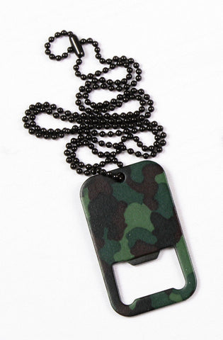 Dog Tag Bottle Opener w/ Chain - Delta Survivalist
