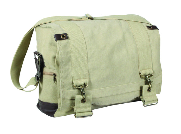 Vintage Canvas B-15 Pilot Messenger Bag - Delta Survivalist
