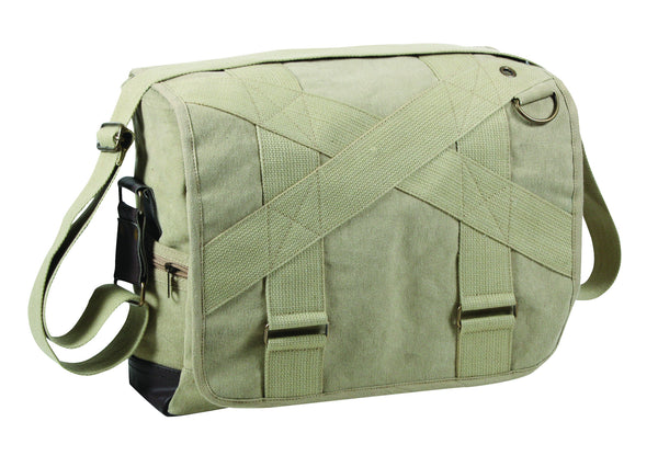 Vintage Canvas Outback Messenger Bag
